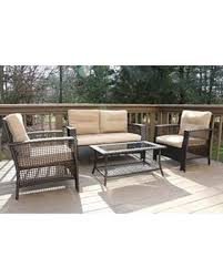 Patio Chair With Ottoman by Deals On Patioa Oliver Smith Large 4 Pc High Back Rattan Wiker