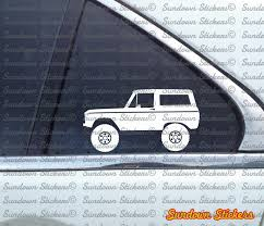 old bronco jeep 2x lifted 4x4 outline stickers for ford bronco 1966 1977