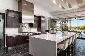 espresso cabinets kitchen contemporary with glass front modern