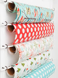 great gift wrap storage ideas cup hooks cups and wrapping papers