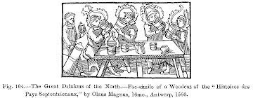 file the great drinkers of the north fac simile of a woodcut of