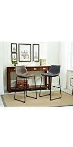 amazon com roundhill furniture lotusville vintage pu leather