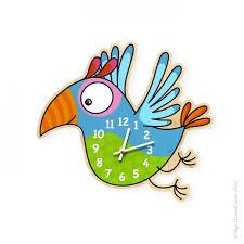 horloge chambre bébé horloge perroquet déco chambre bébé et enfant série golo
