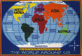 Antarctica World Map by World Map