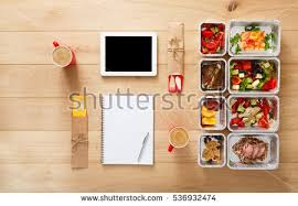 healthy restaurant food couple diet plan stock photo 536932474