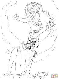 moses receiving the tablets coloring page free printable