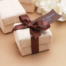 organic favor box 6 pcs eco friendly wedding favors