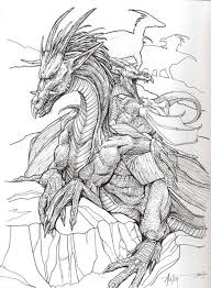 detailed coloring pages of dragons evil fairy coloring pages for adults dragon art designs