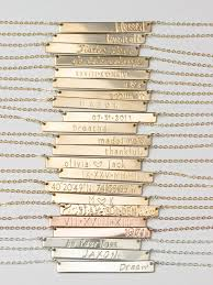 bar necklace personalized bar necklace personalized name plate necklace gold silver