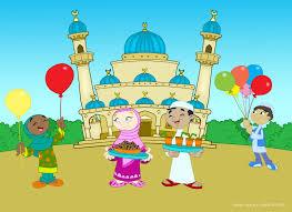 muslim kids eid coloring