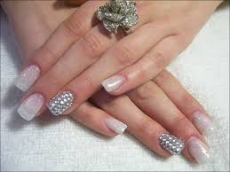 french manicure designs design nails with crystals u2026get them