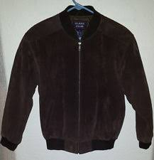 Boys Leather Bomber Jacket Class Club Leather Outerwear Sizes 4 U0026 Up For Boys Ebay
