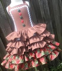 ready to ship custom boutique gingerbread ruffle dress