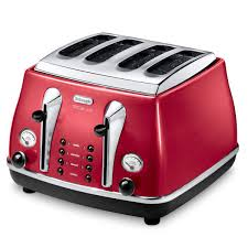 1950s Toaster De U0027longhi Micalite 4 Slice Toaster And Kettle Bundle Red Iwoot