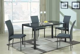 Glass Top Dining Table And Chairs Coaster Fine Furniture 103741 Metal Dining Table With Glass Top