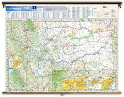 Missoula Zip Code Map by Montana State Reference Wall Map From Geonova
