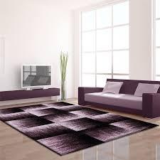 Modern Grey Rug by Modern Contemporary Black Grey Brown Purple Grey Swirls Squares