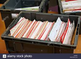 bulk christmas letters and cards for sorting bulk christmas mail stock photo