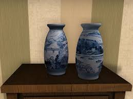 Chinese Hand Painted Porcelain Vases Second Life Marketplace Dutchie Mesh Chinese Hand Painted