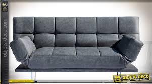 tapisser un canapé canapé design vintage tapissé en similicuir gris ardoise piètement