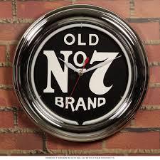 jack daniels old no 7 logo neon clock game room clocks close