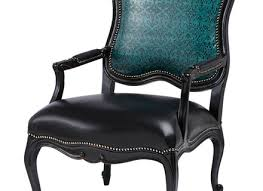 Blue Leather Armchair Sienna Blue Leather Wing Chair Ottoman Bench And Ottomans Hastac