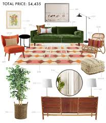 Anthropologie Side Table by Designing A Budget Living Room Emily Henderson