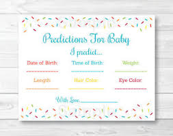 baby sprinkle baby sprinkle rainbow blue baby shower baby predictions cards