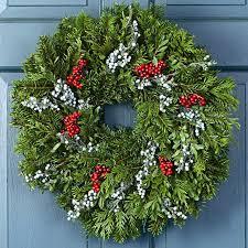 christmas winter wreath fresh christmas juniper berry wreath