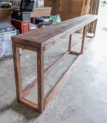 diy entryway table plans sofa table design build a sofa table best inspiring guide tough