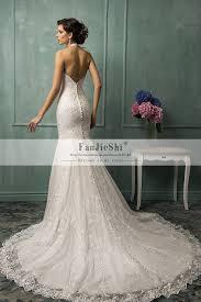 aliexpress com buy vestido de noiva halter neck venice appliques
