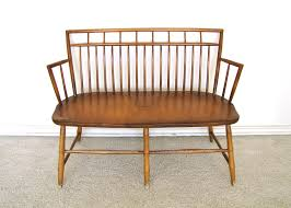 sheraton type birdcage back windsor bench settee ebth images with