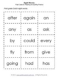 first grade sight words u0026 flash cards