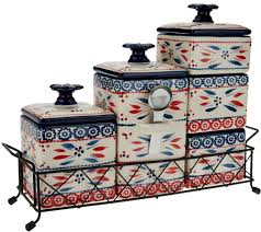 blue and white kitchen canisters temp tations old world 6 piece ceramic canister set page 1 u2014 qvc com