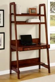 Desks With Shelves by Kristina Retro Ladder Style Computer Desk In White With Storage