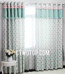 girl bedroom curtains sweet girls bedroom curtains of two panels with flower decoration