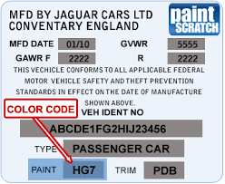 jaguar touch up paint color code and directions for jaguar