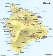 map of hawaii island hawaii big island some attractions within map of the big island