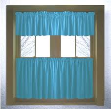 Curtains With Turquoise Turquoise Color Tier Kitchen Curtain Two Panel Set