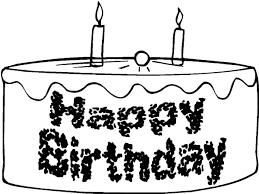 chocolate birthday cake colouring page chocolate birthday cake