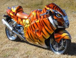 custom motorcycle paint sports bike tiger hayabusa biker t