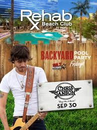 rehab rehab beach club backyard pool party ft chris janson