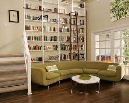 space saving room furniture placement ideas putting bookcases and