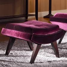 velvet chair and ottoman lounge chair ottoman accent modern fabric velvet tufted mid in