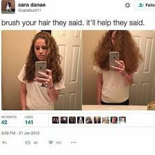 why is my hair curly in front and straight in back you don t realize how true this actually is i have to brush my