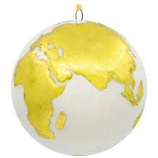 world globe travel premium porcelain hallmark ornament specialty