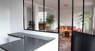 atelier de la cuisine une cuisine avec séparation verrière type atelier d artiste la