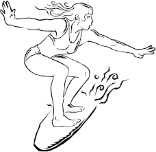 Surfing Coloring Pages Surfboard Coloring Page