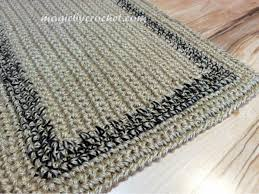 Crochet Doormat Doormat Simple Jute Rug Custom Color Border Crochet Door Rug