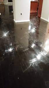 hardwood floor shiny to matte
